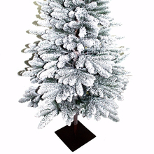 artificial christmas tree with snow effect & metal stand