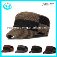 2013 top fashion handsome mens fashion hat army cap rivet design military cap and hat cap for men