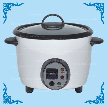 Double inner pot certificated tin plate 1.8 l commercial electric drum rice cooker