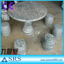 Dragon green outdoor stone tables and benches