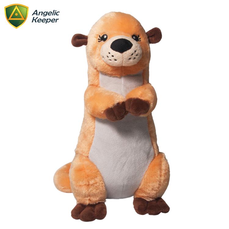 factory wholesale 40cm standing sea otter plush stuffed animal toy