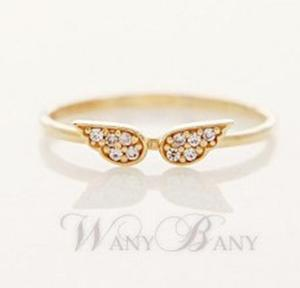 South Korea fashion jewelry Fashion simple ShanZuan angel wings ring ring pn8133