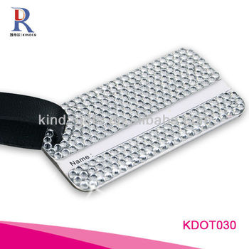Fashion Bling Crystal Travel Luggage Tags Labels