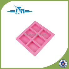 6-cavity Plain Basic Rectangle Silicone Mould for Homemade Craft Soap Mold, cake mold, Ice cube tray