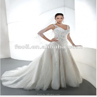 V Neck Weeding Gown Backless Beaded A-line 2015 Wedding Dresses WholeSale China, Sexy Wedding Night Dresses