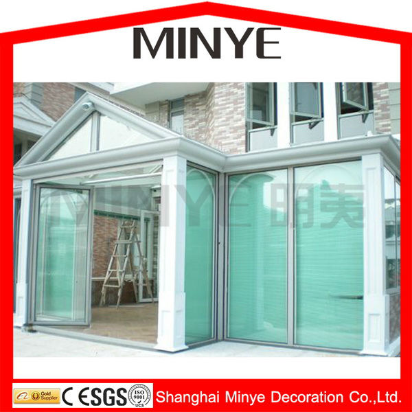 New style sun room/ sunroom / glass house/ winter garden/greenhouse made in china shanghai