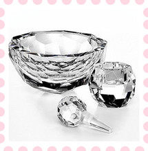 charming crystal bowl with shinning facets