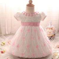 PHB60236 baby girls christening gown fancy party dress for girl