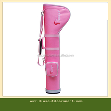 custom pink pencil golf bag for ladies