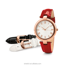 Custom brand luxury quartz lady hand watches with changeable strap