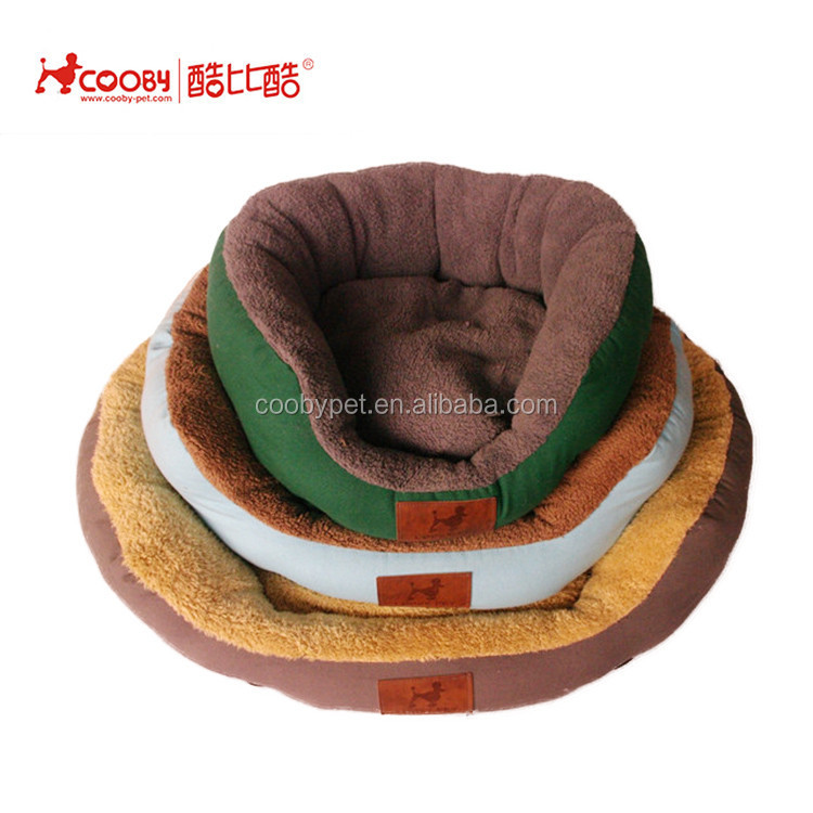 Coobypet High quality best price round plush covered pet dog beds