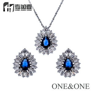 Luxury And Fashion Cubic Zirconia Jewelry Sets Bridal Wedding Jewelry Set For Bride