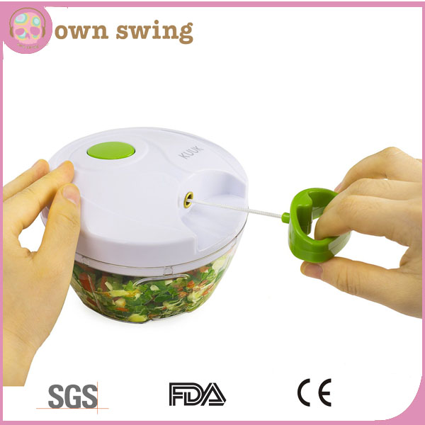 Manual Food Chopper/Compact&Powerful Hand Held Vegetable Chopper / Mincer / Blender to Chop Fruits, Vegetables, Nuts, Herbs