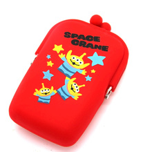 China Supplier wholesale colorful cheap logo printed silicone kids custom coin purse