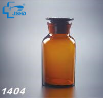 Hot sale HDA Laboratory Glassware Amber Reagent Bottle Wide Mouth with Ground-in Glass Stopper Plastic Stopper