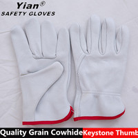 cow grade leather driver gloves,truck drivers driving gloves