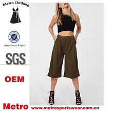 OEM Plus Size Women Short Wide Leg Slacks Pants