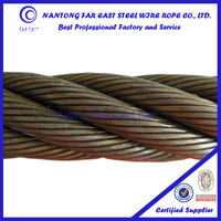 Hemp core steel wire rope 6*36WS ungalvanized steel wire cable/lifting wire rope