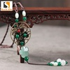 Copper alloy 2018 new handmade long woman beads jade necklace