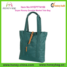 Super Roomy Durable Market Tote Shopper Stylish Green Big Volme Hand Bags