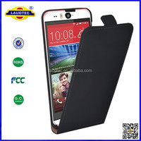 newest black flip leather case for HTC desire eye