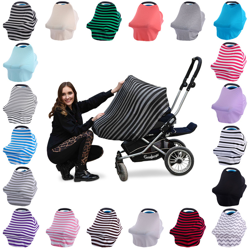 Multi-Use nursing Breastfeeding Cover Scarf Baby Car Seat Cover