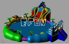 Octopus themed exciting inflatable water park/giant inflatable water park project