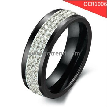 Diamond Ring,gemstone ceramic jewelry black diamond ceramic rings