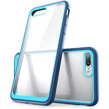 New Products China Market 2018 Clear Blu Cell Phone Cases for iPhone 7 Case TPU