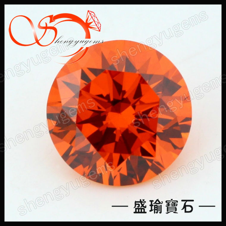 round diamond shape cubic zirconia gemstones,gems for jewelry