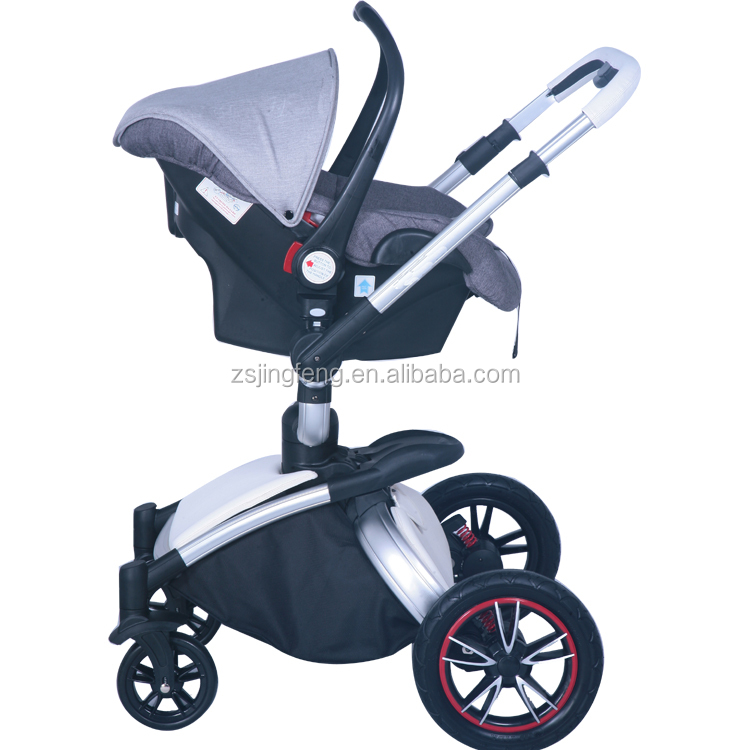 EN1888 Aluminum PU Leather Luxury Baby Stroller For New Born Baby