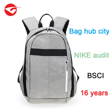 Factory supplier simple polyester pro city business laptop sports backpack for men