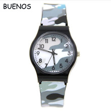 2016 Hot Sell Men Sports Waterproof Fashion Camouflage Plastic Watch