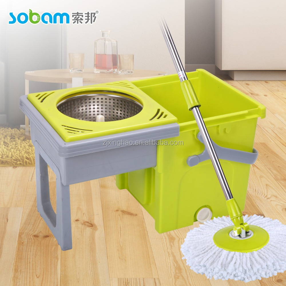 Easy life magic spin mop 360 degree rotating pole no pedal replacement parts of dry extensible mop