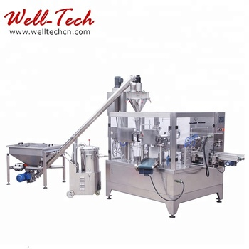 Top Selling Automatic Bean Powder Filling and Packing Machine Premade Bags or Pouch Bean Powder Packaging Machine