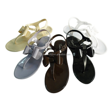 Plastic Jelly Bow Sandals Womens Jelly shoes