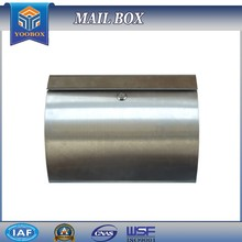 2017 YOOBOX Curve Lockable Mailboxes Stainless Steel Mail Boxes Modern City Style