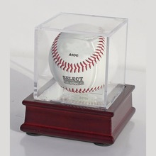 2018 New Durable High Transparent Clear Acrylic Cube Baseball Display Case