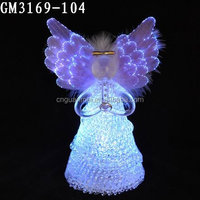 factory price wholesale fashion glass angels statues