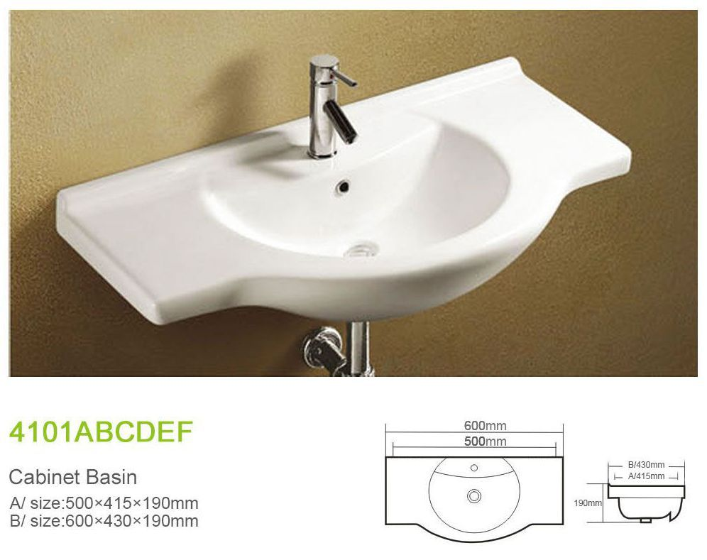 W4101A china ceramic set bathroom hand wash basin price of cabinets design