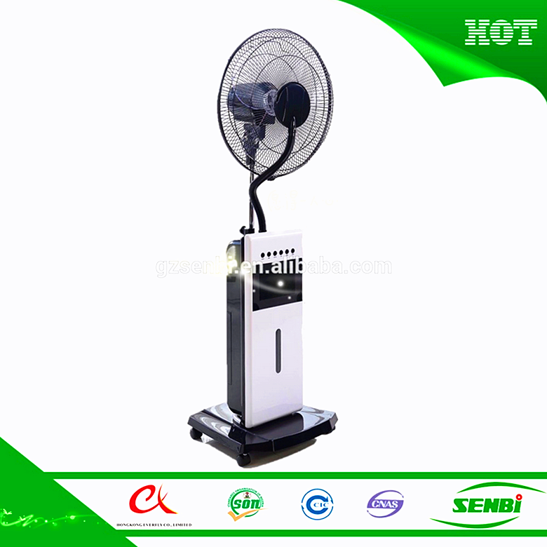 ac 220v latest spray water plastic fans powerful wind motor cooling