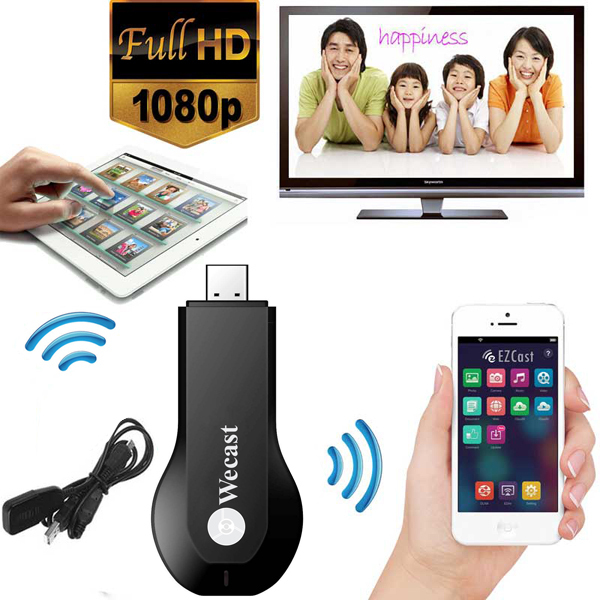 New arrival smart phone/TV/ tablet Ezcast M2 wirless WIFI display USB dongle with 1080p tv stick