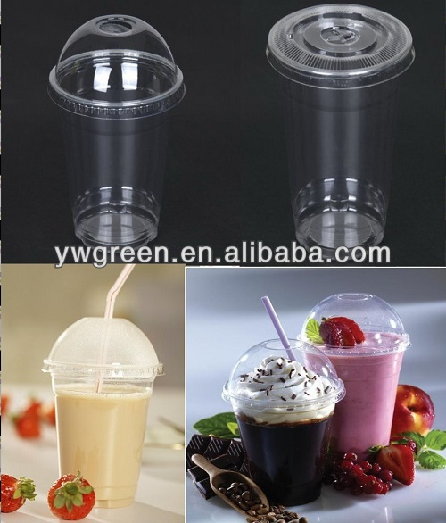 High-quality disposable clear PET plastic cups/smoothie plastic cups