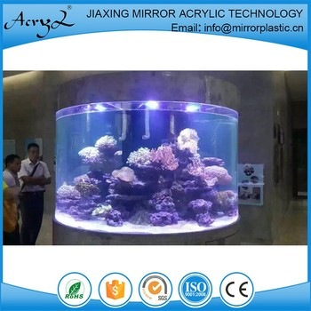 Cylindrical Aquarium Fish Tank