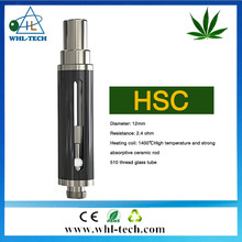 2017 Unique Patent Designed CBD Cartridge HSC 510 Thread 0.8ml Ceramic Glass CBD Thick Oil Vaporizer