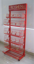 Red foldable basket metal hanging basket stands