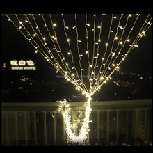 wholesale wedding warm white led christmas fairy curtain light