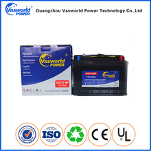 Low price 12v 75ah MF auto battery for car starting engine