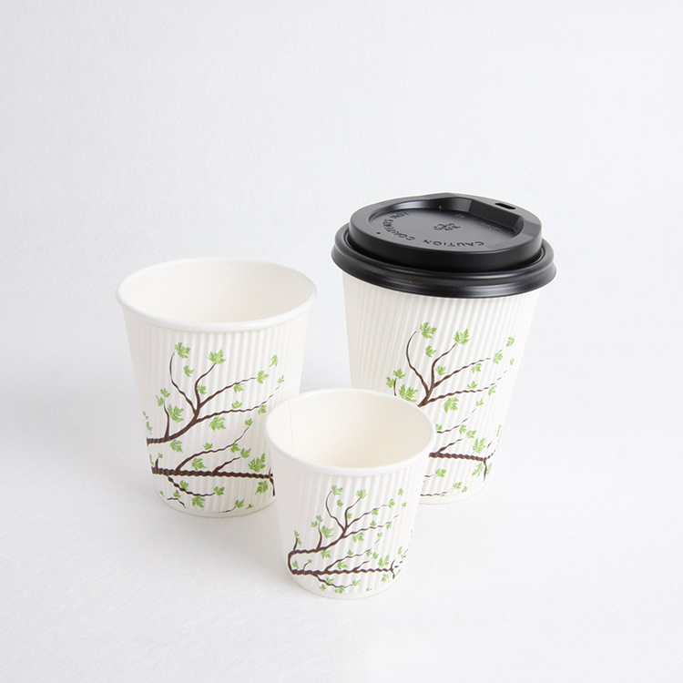 Custom image ripple wall take away drink paper cup