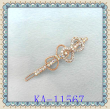 Wholesale rhinestone hair clips with spring clip